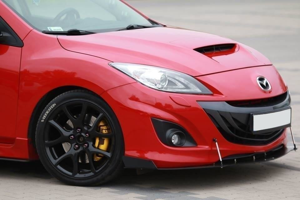 front racing splitter mazda 3 mk2 mps our offer mazda. Black Bedroom Furniture Sets. Home Design Ideas