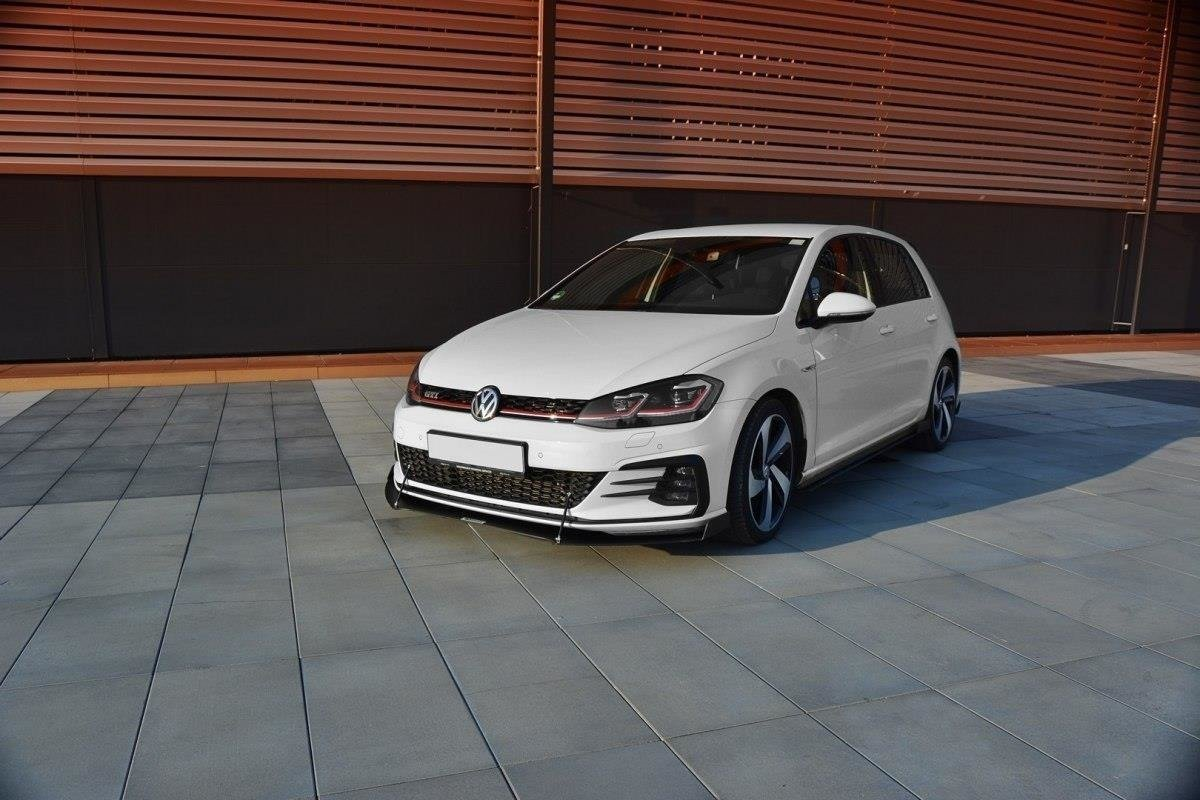 front racing splitter v 2 vw golf vii gti facelift our. Black Bedroom Furniture Sets. Home Design Ideas