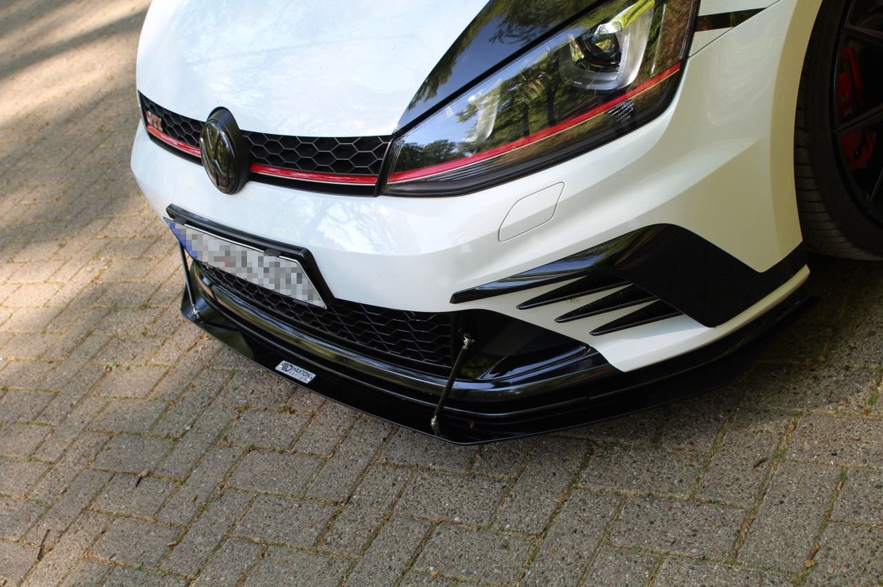 front racing splitter vw golf vii gti clubsport our. Black Bedroom Furniture Sets. Home Design Ideas