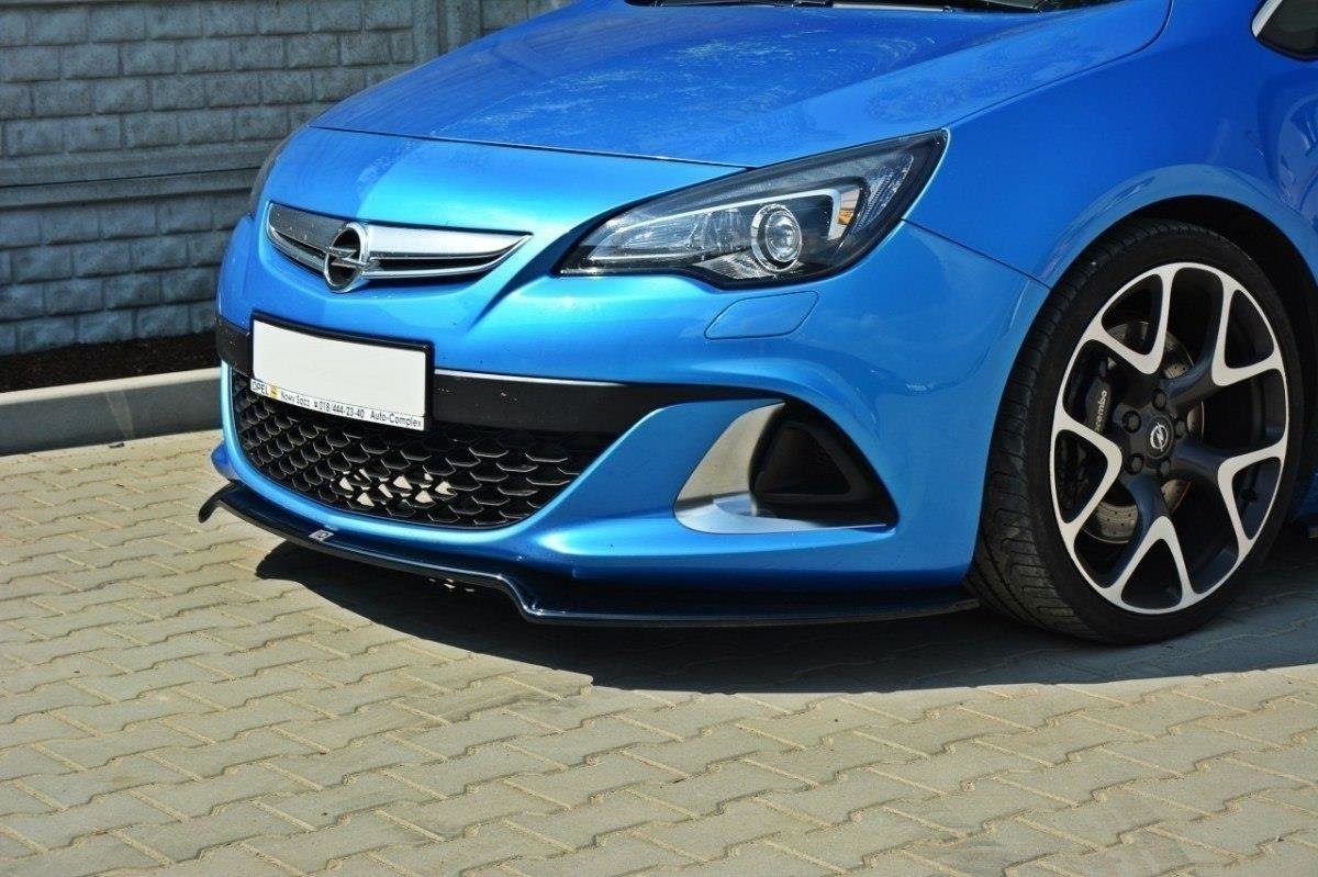 Młodzieńczy FRONT SPLITTER OPEL ASTRA J OPC / VXR v.2 Gloss Black | Our Offer ID02