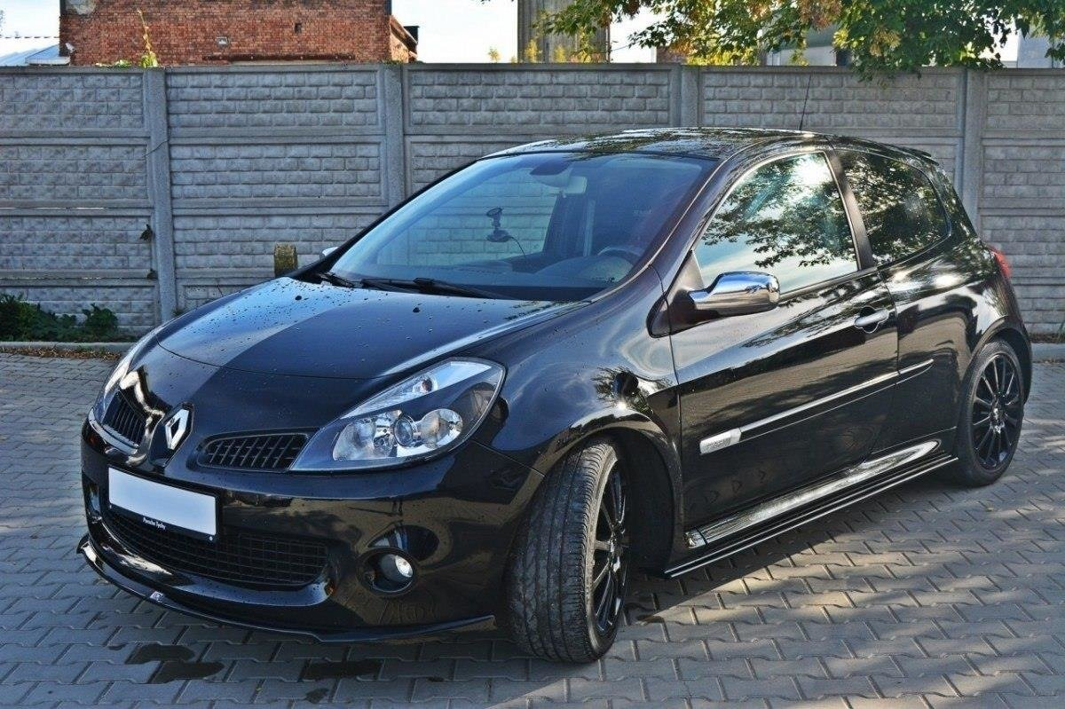 front splitter renault clio iii rs gloss black our offer. Black Bedroom Furniture Sets. Home Design Ideas