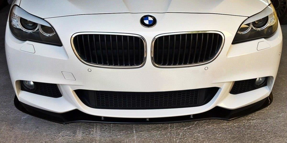 front splitter v 1 bmw 5 f10 f11 mpack gloss black our offer bmw seria 5 f10 f11