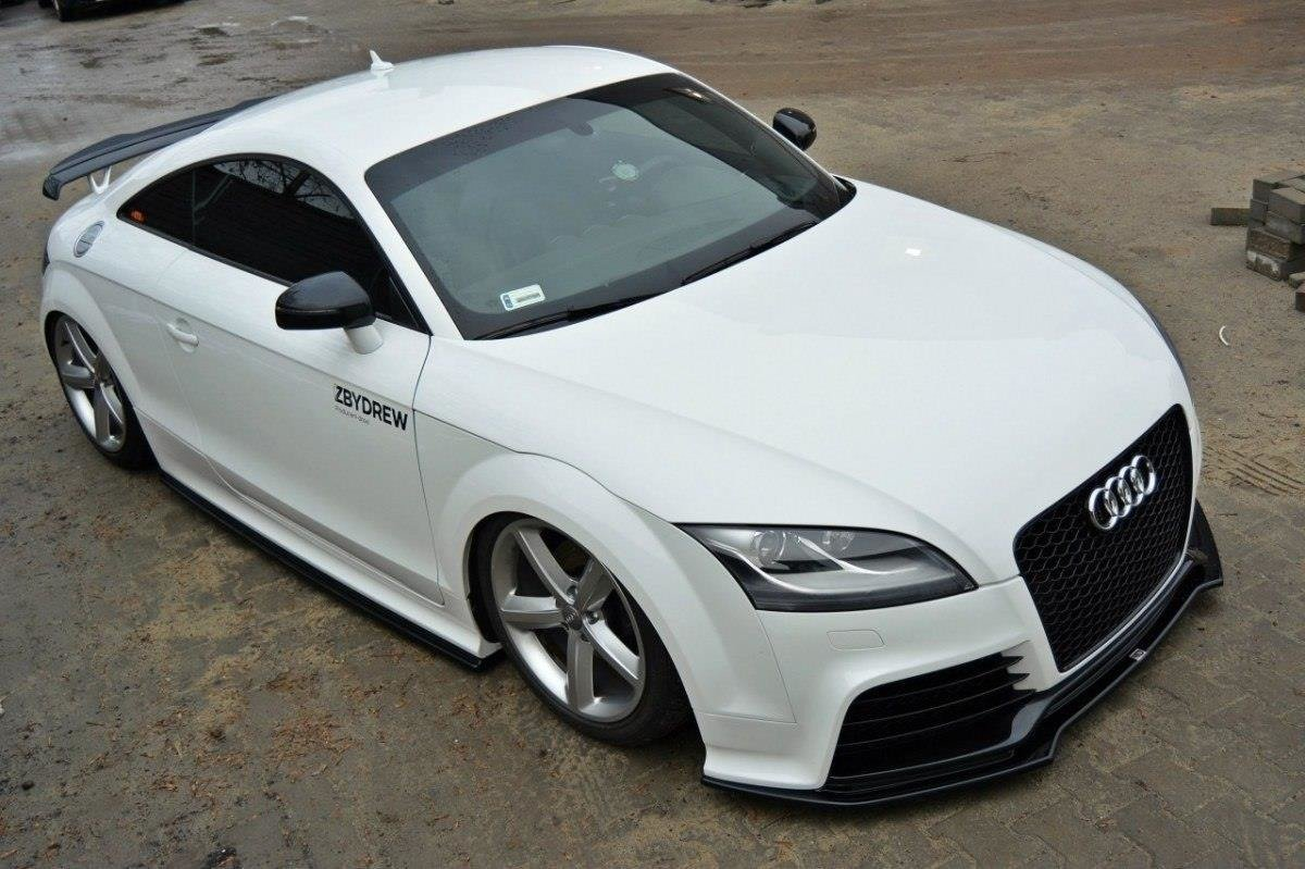 front splitter v 2 audi tt mk2 rs textured our offer. Black Bedroom Furniture Sets. Home Design Ideas