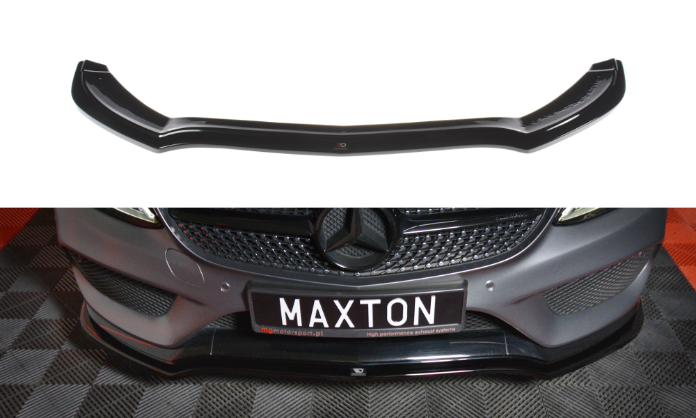 Front Splitter V 1 Mercedes Benz C Class W205 Coupe Amg Line