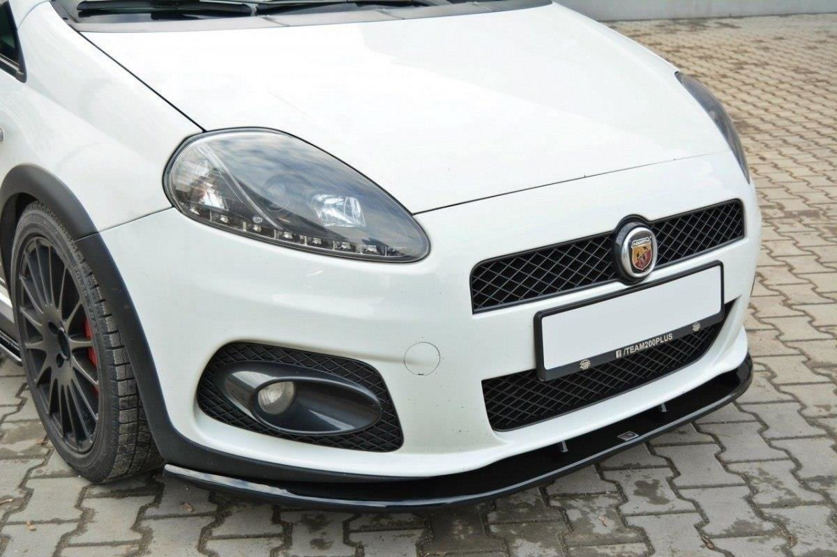 front splitter v 2 fiat grande punto abarth gloss black. Black Bedroom Furniture Sets. Home Design Ideas