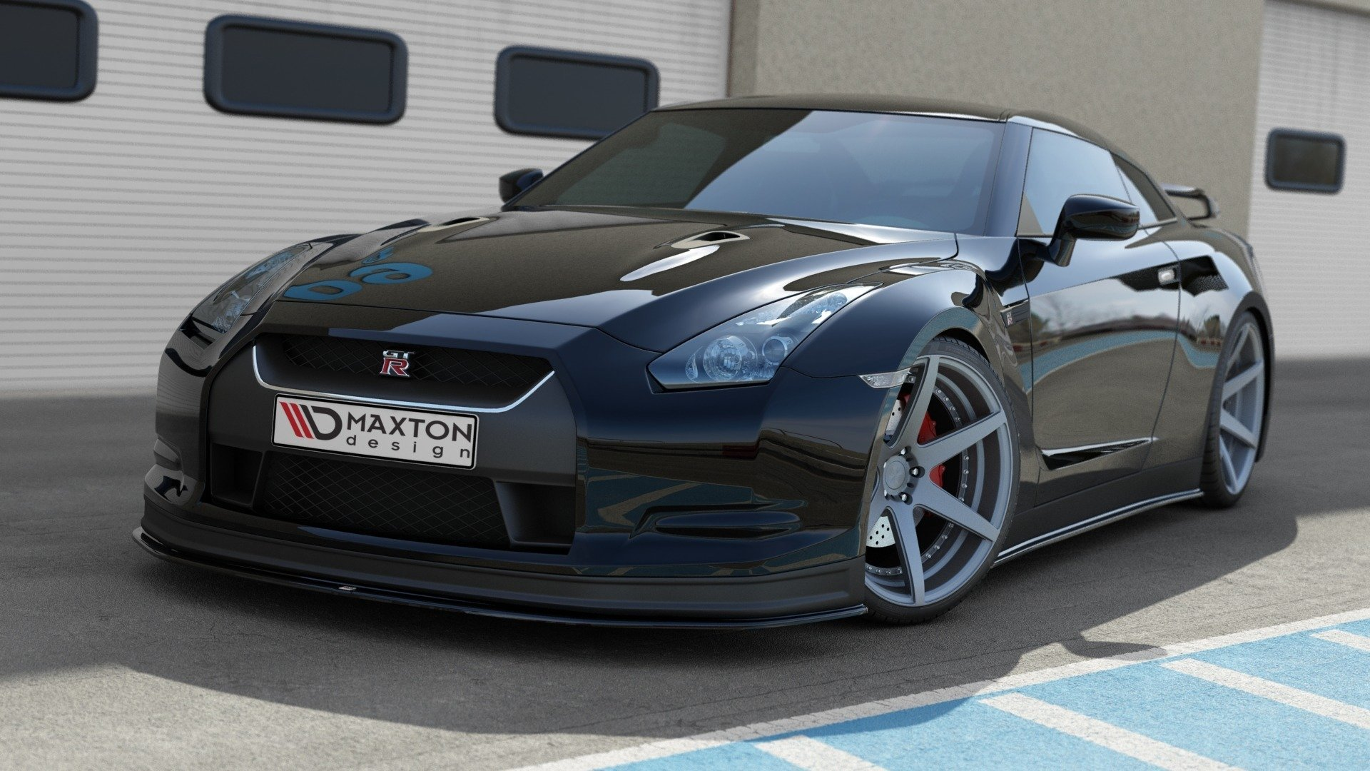 front splitter v 2 nissan gt r preface coupe r35 series textured our offer nissan gt r