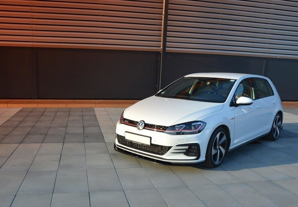front splitter vw golf vii gti facelift v 1 gloss black. Black Bedroom Furniture Sets. Home Design Ideas