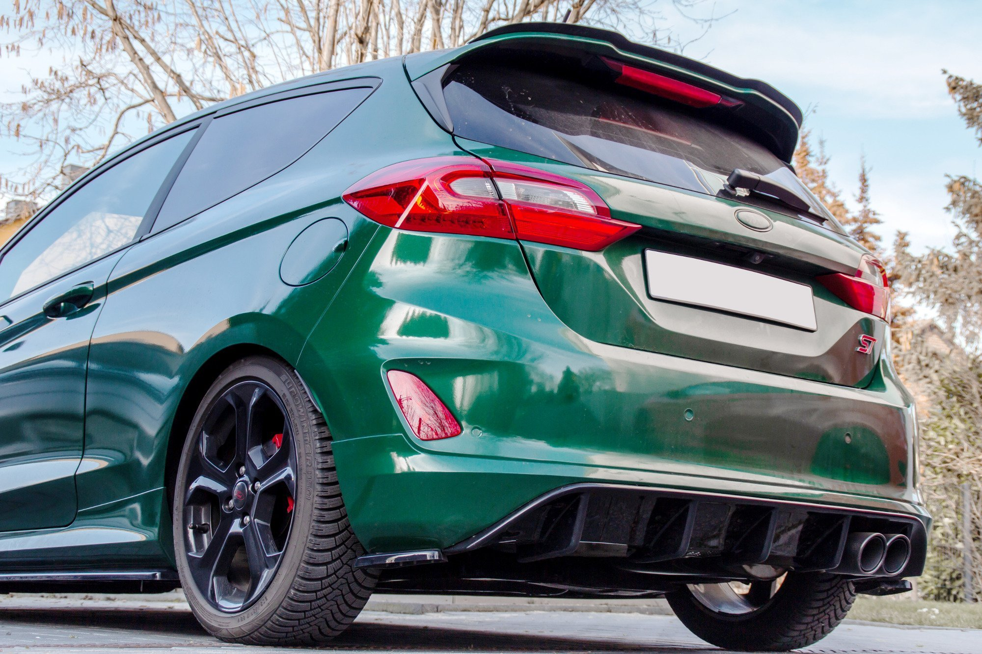 rear valance ford fiesta mk8 st gloss our offer ford. Black Bedroom Furniture Sets. Home Design Ideas