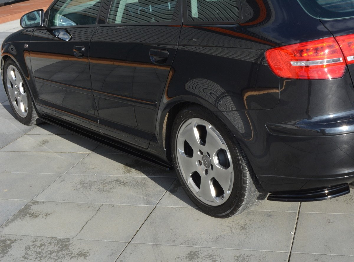 Side Skirts Diffusers Audi A3 Sportback Mk2 8p Preface Textured
