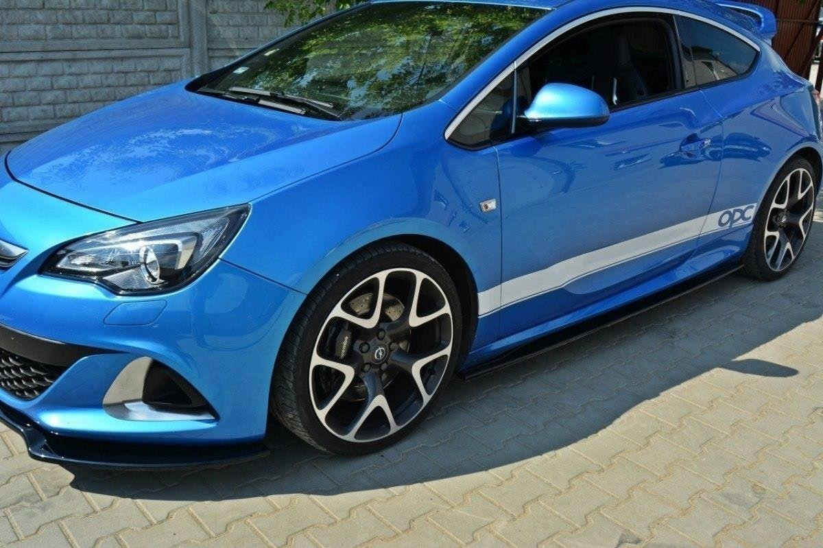 Nietypowy Okaz SIDE SKIRTS DIFFUSERS OPEL ASTRA J OPC / VXR Textured | Our Offer VE57