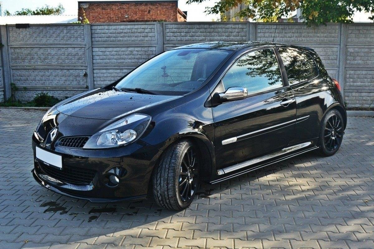 side skirts diffusers renault clio mk3 rs textured our. Black Bedroom Furniture Sets. Home Design Ideas