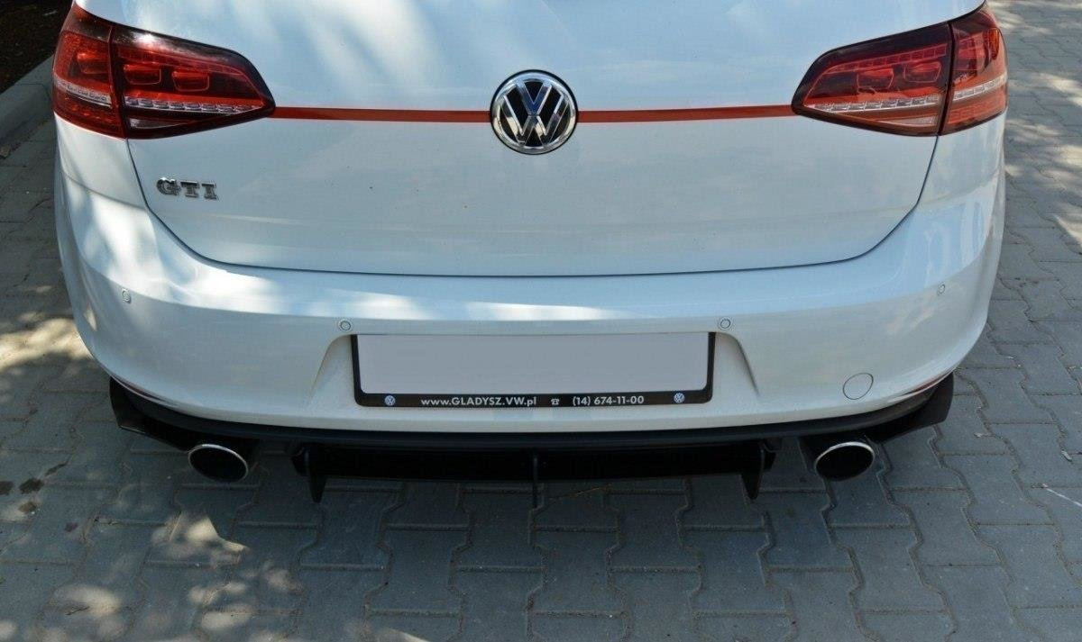 vw golf mk7 gti rear diffuser rear side splitters our. Black Bedroom Furniture Sets. Home Design Ideas