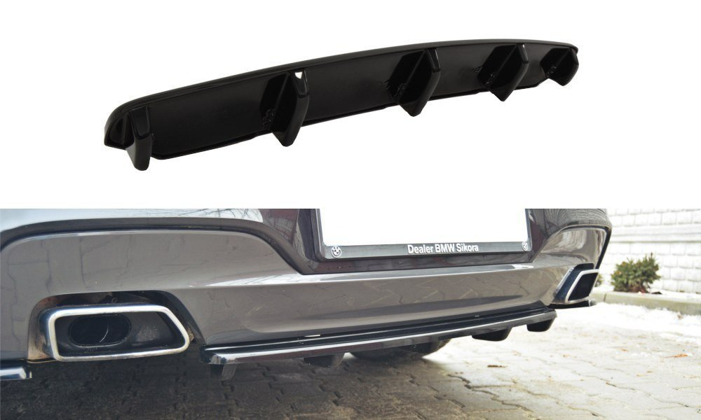 CENTRAL REAR SPLITTER BMW 6 Gran Coupé MPACK (with a vertical bar)