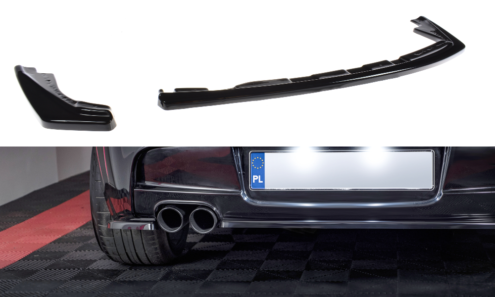 CENTRAL REAR SPLITTER (WITHOUT VERTICAL BARS) BMW 1 E81/ E87 M-PACK FACELIFT