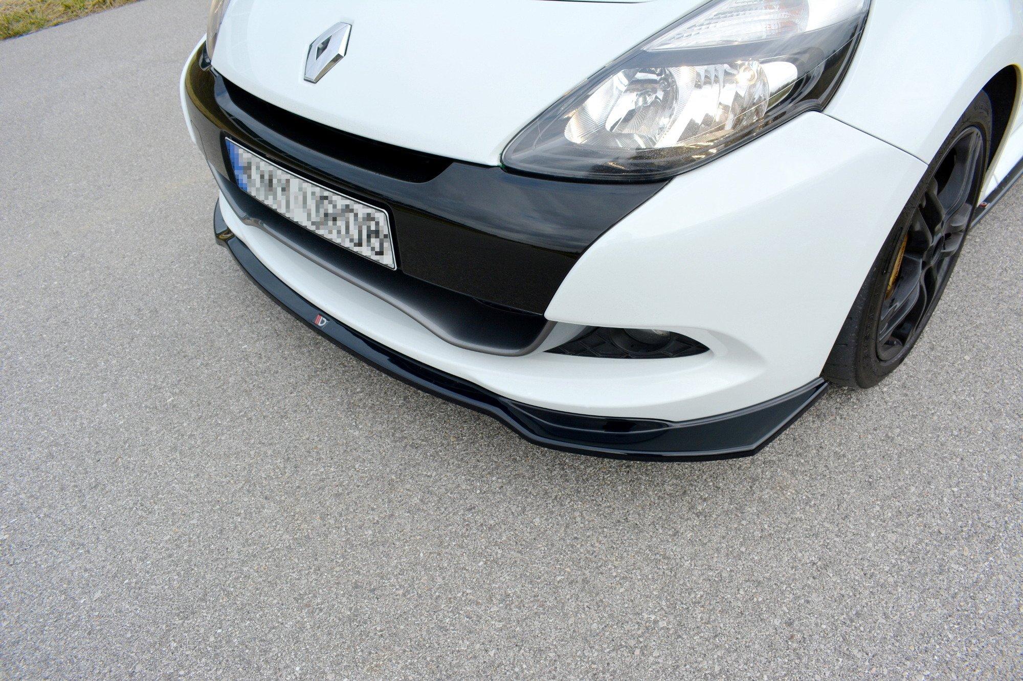 Lame Du Pare Chocs Avant Splitter V 1 Renault Clio Mk3 Rs Facelift