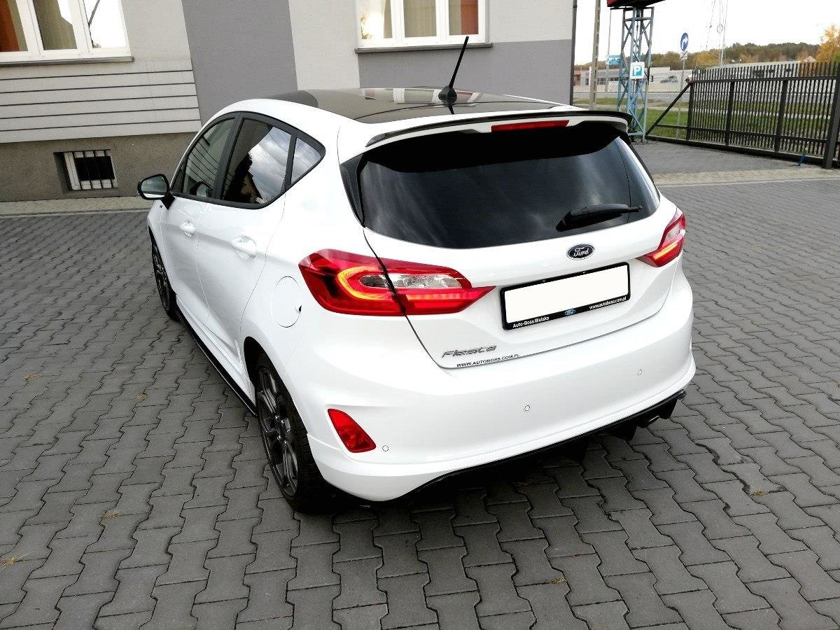 spoiler cap ford fiesta mk8 standard st line gloss black. Black Bedroom Furniture Sets. Home Design Ideas