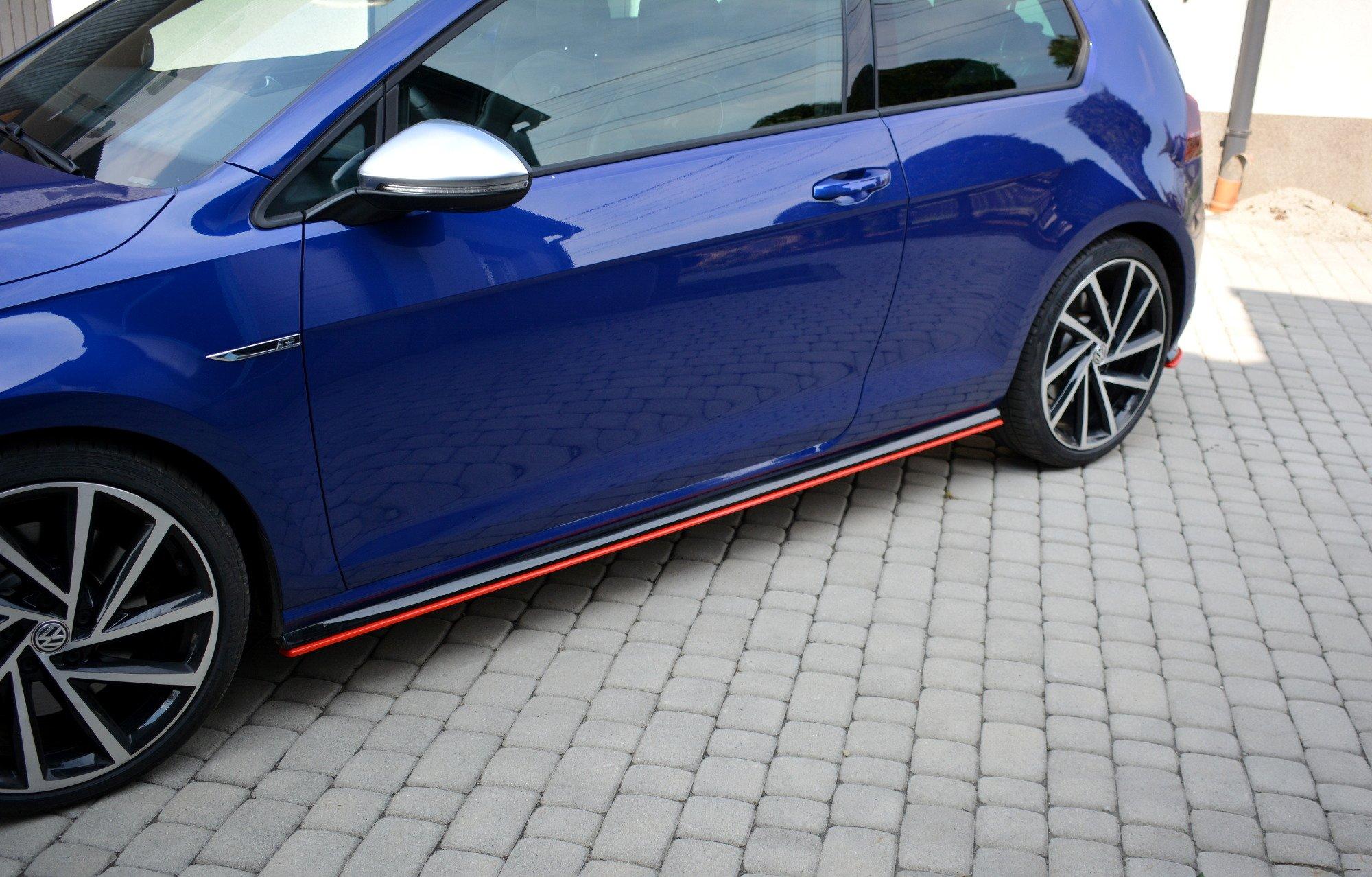 seitenschweller diffusor v 2 vw golf 7 r facelift carbon look shop volkswagen golf r mk7. Black Bedroom Furniture Sets. Home Design Ideas